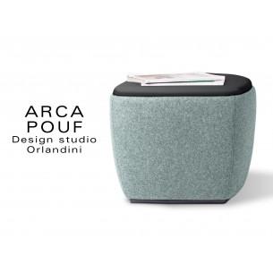 ARCA pouf, tabouret ou table d'appoint couleur bleu clair Plymouth