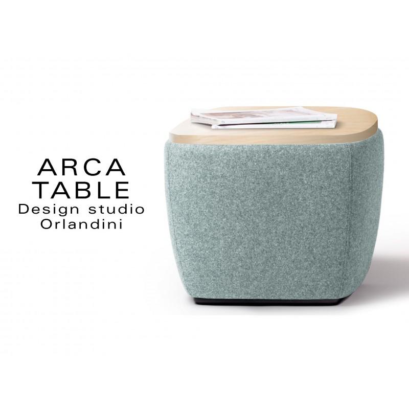 ARCA pouf ou table d'appoint habillage couleur bleu Plymouth.
