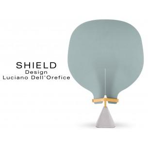 """SHIELD module écran habillage en feutre collection """"Blaser"""" du fabricant """"Camira"""" 100% laine, couleur bleu Plymouth"""