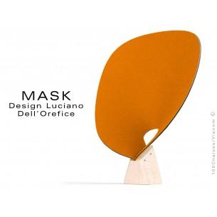 MASK petit module écran multicouche en tissu 100% polyester, couleur orange Highrise