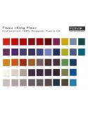 """Gamme couleur King-Flex du fabricant """"Fidivi"""" 100% polyester, couleur au choix."""