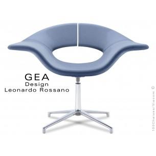 GEA petit fauteuil à 4 branches habillage 100% polyester, lavande 6005.