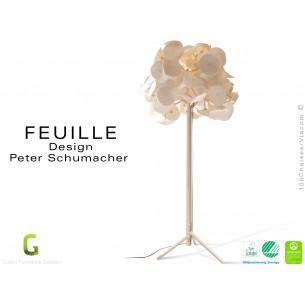 FEUILLE lampe sur pied bois Bouleau feuillage feutre 100% coton - Lot de 3 unités