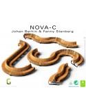 Exemple module ou ensemble banc NOVA DOUBLE courbe 45° assise bois structure métal - 2 modules