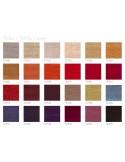 Gamme tissu Lin pour pouf ou repose-pieds triangulaire CLUB assise capitonnée habillage couleur au choix