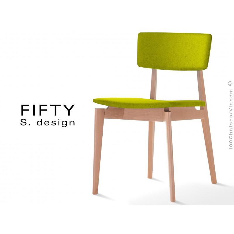 chaise bois fifty assise et dossier garnis de mousse. Black Bedroom Furniture Sets. Home Design Ideas