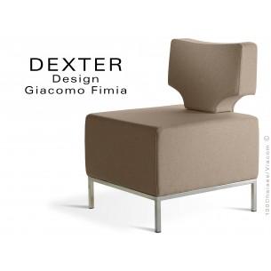 Banquette modulable DEXTER assise et dossier garnis habillage feutre couleur sable