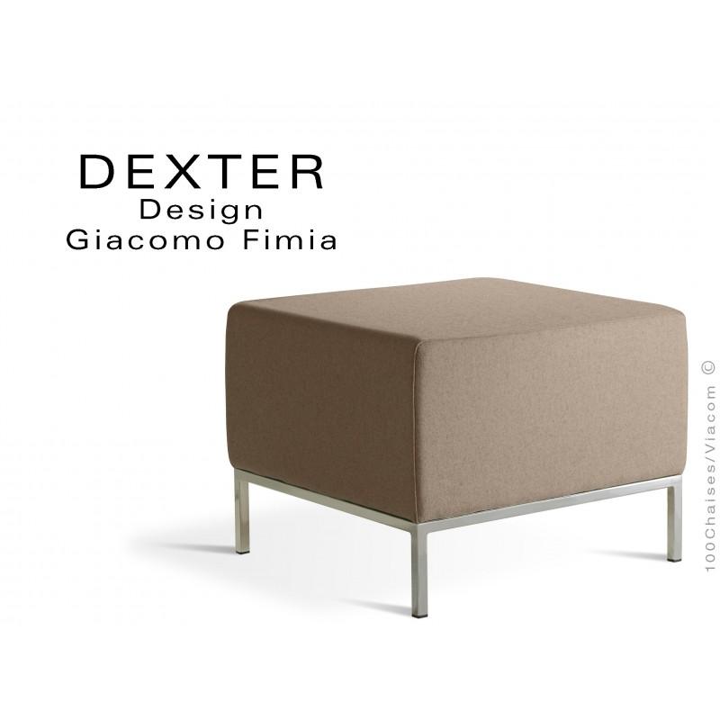 Banquette modulable DEXTER assise garnie habillage feutre couleur sable