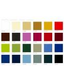 Palette couleur tissu synthétique pour pouf carré RINGO, assise garnis, couleur au choix