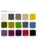 Habillage 100% laine assise tabouret de bar design X-STOOL Wood Soft 75 - piétement bois noyer assise coque capitonnée