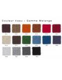Habillage MELANGE tissu pour tabouret de bar design X-STOOL Wood Soft 75 - piétement bois noyer assise coque capitonnée