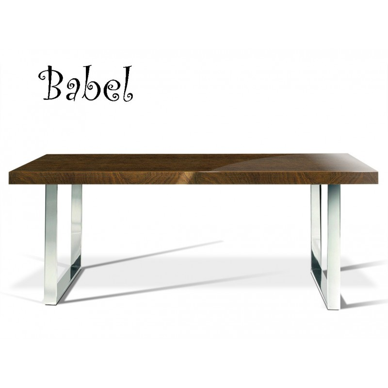 Table BABEL, finition vernis noyer, réf.: 815.