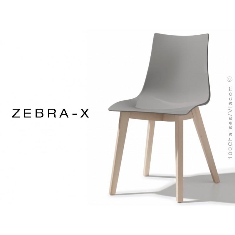 Assise X Chaise Coque Pieds Zebra Lot Plastique 12 De Bois Couleur nO8wN0vm