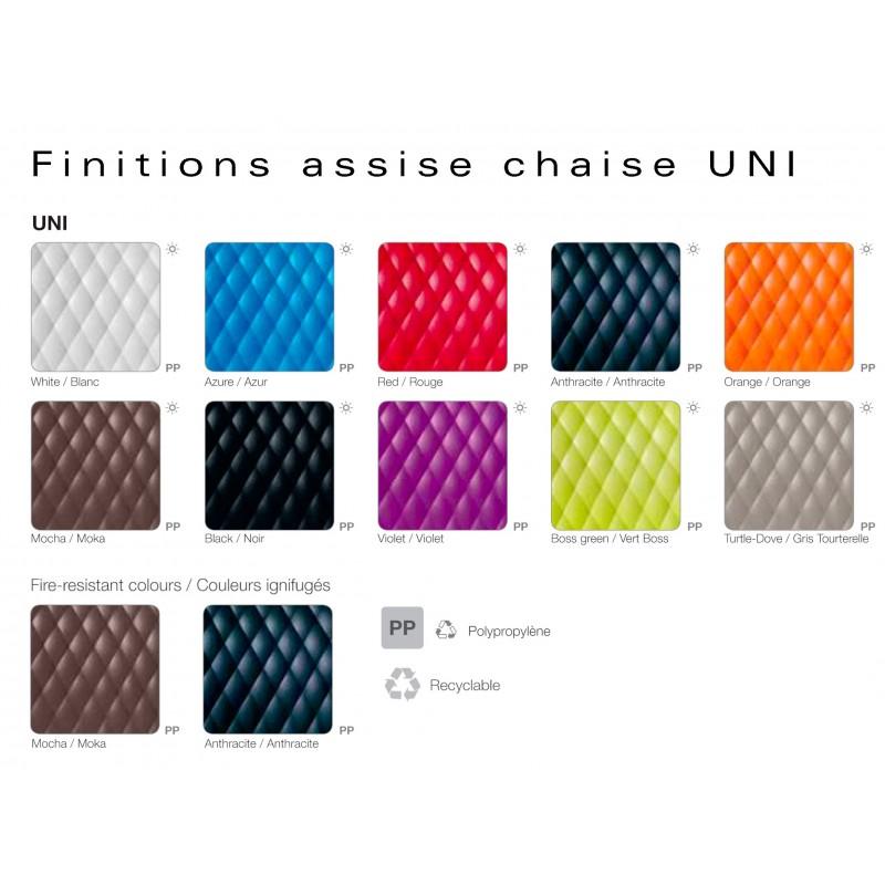 UNI chaise coque assise couleur possible au choix.