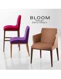 Collection BLOOM, fauteuil, chaise, tabouret de bar luxe haut de gamme.