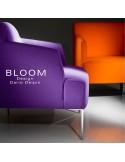 Collection fauteuil lounge BLOOM, structure bois ou acier, assise et dossier garnis, habillage 100% laine.