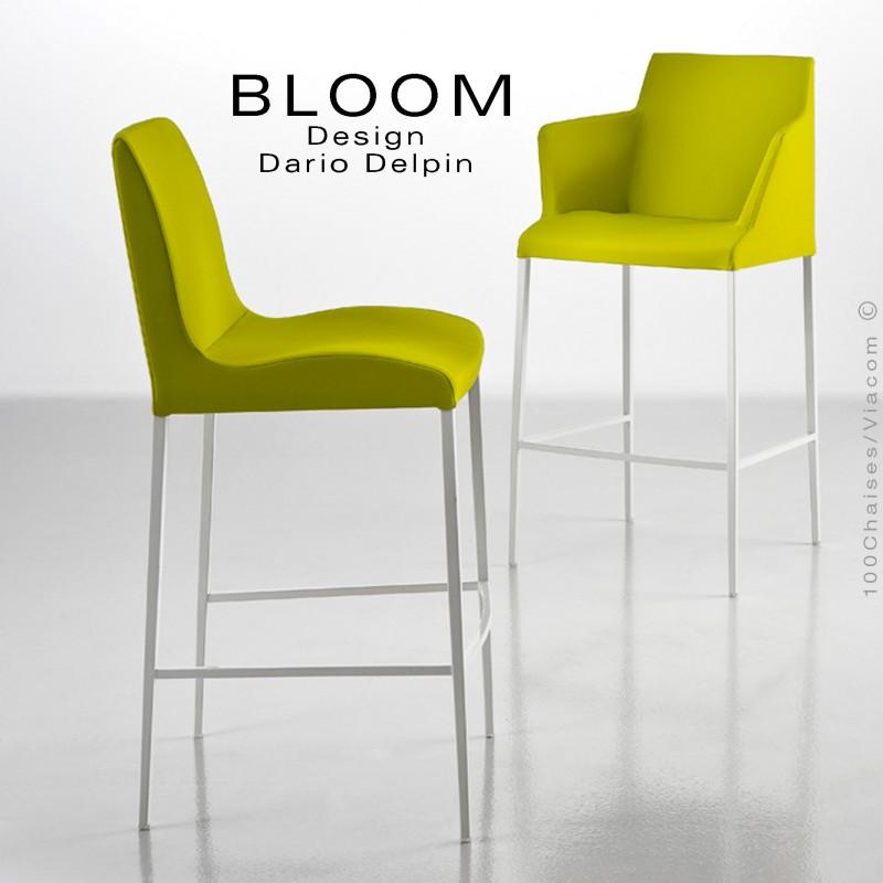 Lounge Accoudoirs Avec Acier Tabouret De BloomStructure Bar Chromé 8k0PnwO