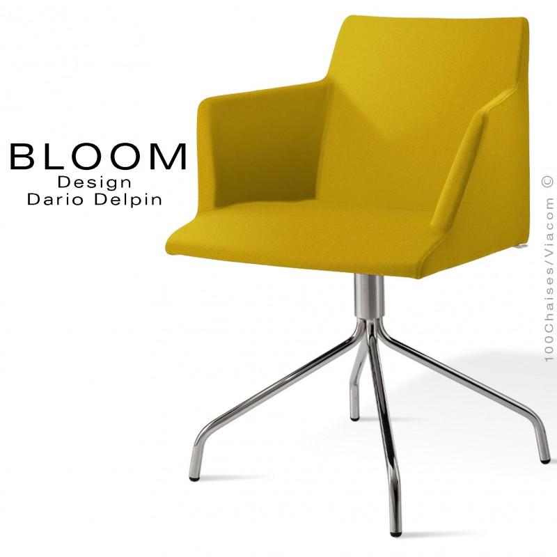 BloomPieds Et Fauteuil Confort 4 ChroméAssise BranchesAcier 80vNymnwO