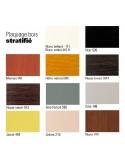 Table mange-debout pour restauration ZEN palette sélection stratifié pour plateau au choix.