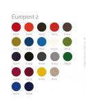 Nancier couleur habillage tissu EUROPOST-2 pour fauteuil HIRO, colonne centrale acier chromé, assise garnie, habillage 100% lain