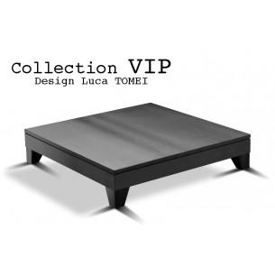 VIP table basse carré finition effet lumière.