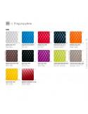 Palette couleur assise tabouret de bar design coque effet matelassé UNI, couleur au choix