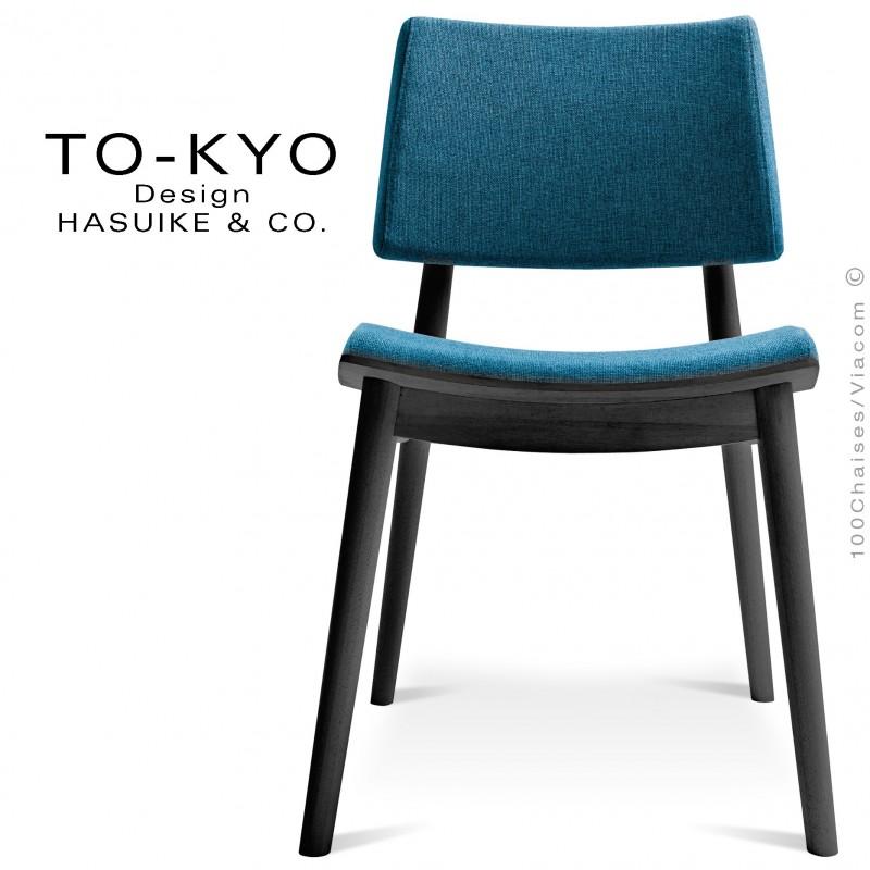 Chaise Pour Salle De Restaurant TO KYO Structure Bois Teinte Noir Assise Et Dossier