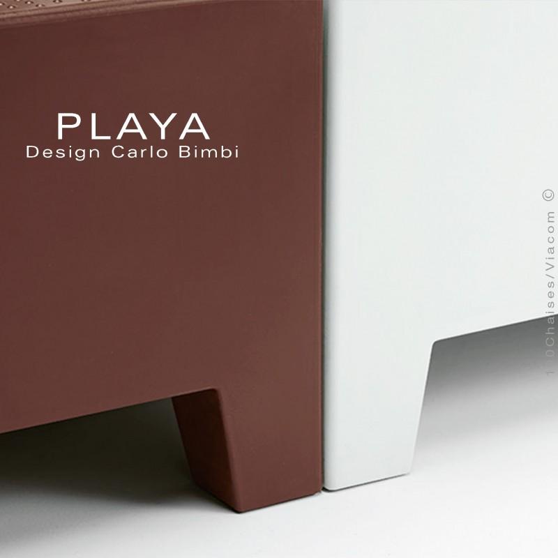 banquette ext u00e9rieur modulable playa  structure plastique de couleur avec ou sans coussin d u0026 39 assise