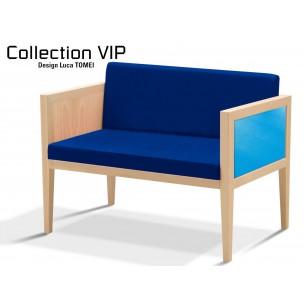 Collection VIP Canapé 2 places, structure en bois de hêtre, habillage tissus gammes T1-T2.