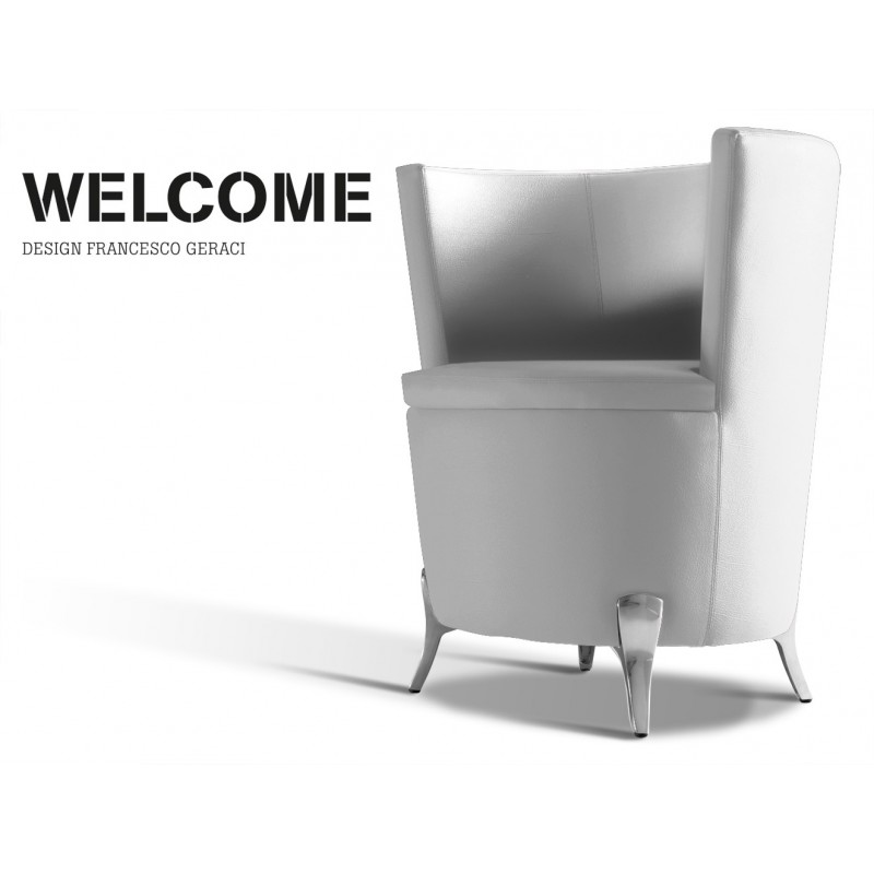WELCOME, habillage éco-cuir gamme T1-309 (blanc).