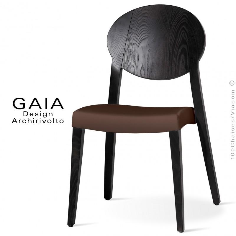chaise de restaurant en bois gaia assise garnie de mousse. Black Bedroom Furniture Sets. Home Design Ideas