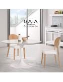 Chaise de restaurant en bois GAIA, piètement vernis au choix.