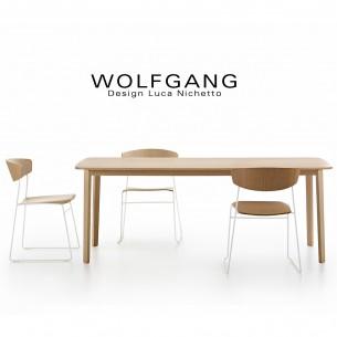 Collection chaise et table pour cuisine, snack, salle à manger ou restaurant en bois de chêne WOLFGANG.