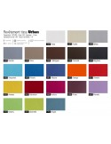 Collection WOLFGANG, gamme tissu synthétique aspect vinyle Urban du fabricant COTTING, classement au feu M1.