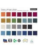 Tissu collection King-L-Kat pour la chaise WOLFGANG Métal, piétement acier peint, assise habillage tissu, dossier chêne massif