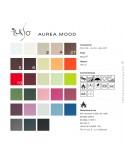 Palette couleur cuir synthétique Aurea-Mood disponible pour le fauteuil lounge MARCELO.
