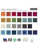 Gamme tissu King-L-Kat pour fauteuil lounge POOLHOUSE, structure chêne, couleur au choix.