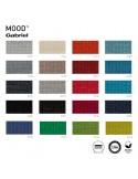 Gamme tissu Mood pour fauteuil lounge POOLHOUSE, structure chêne, couleur au choix.