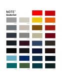 Gamme tissu Note pour fauteuil lounge POOLHOUSE, structure chêne, couleur au choix.