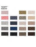 Gamme tissu Tempt pour fauteuil lounge POOLHOUSE, structure chêne, couleur au choix.