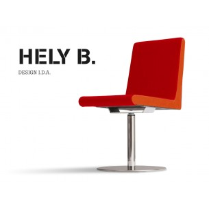HELY chaise pivotante en acier chromé, habillage gammes T1 ou T2 au choix.