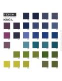 Gamme couleur tissu King-L du fabicant FIDIVI, classification au feu M1.