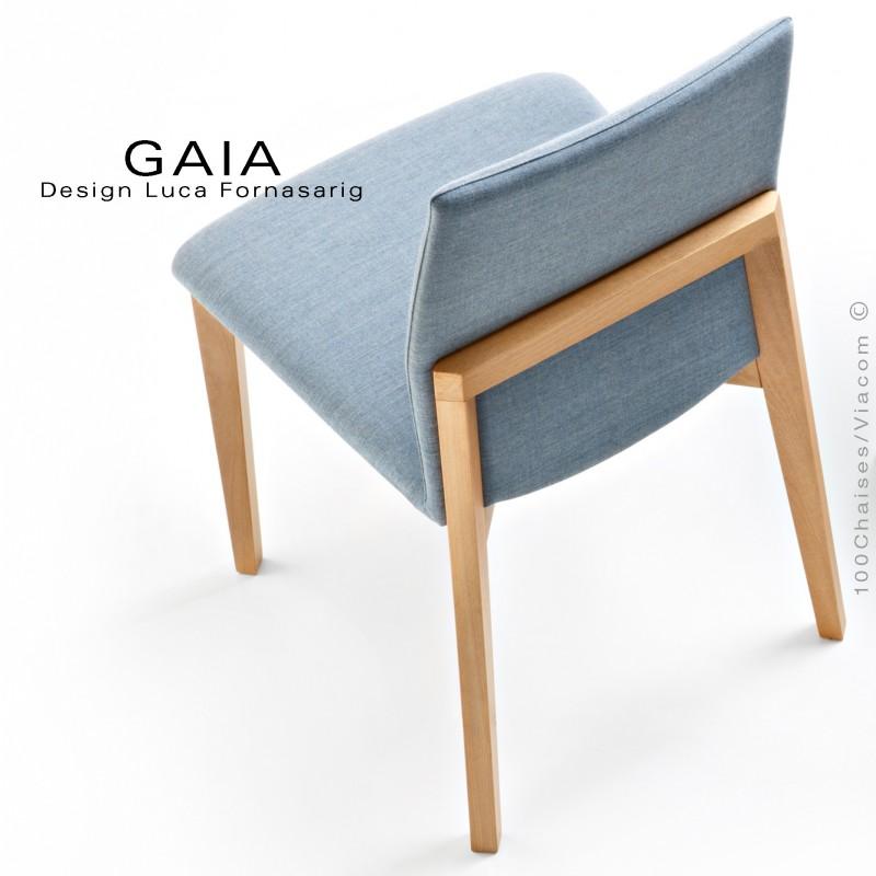 Chaise De Restaurant GAIA Structure Bois Naturel Assise Et Dossier Habillage Tissu King