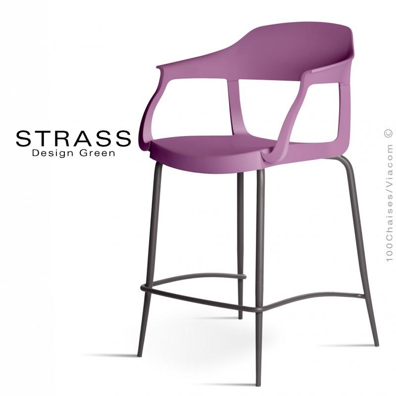 chaise de bar prune cuisine exemple
