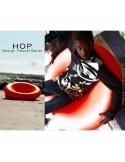 Fauteuil assise basse lounge confort HOP, structure plastique couleur au choix.