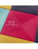 Collection pouf ou tabouret d'extérieur pour hôtel, restaurant, jardin PIF structure plastique couleur