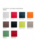 Fauteuil UNI-KA palette couleur assise coque plastique.