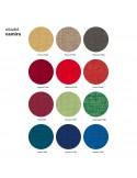 Tissu gamme CITADEL du fabricant Camira pour l'habillage du fauteuil UNI-KA, coque effet matelassé couleur au choix.