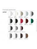 Finition piétement possible pour fauteuil confort UNI-KA, coque effet matelassé couleur, assise habillage cuir.