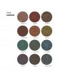 Gamme tissu ou aspect cuir pour habillage fauteuil UNI-KA, assise coque effet matelassé.